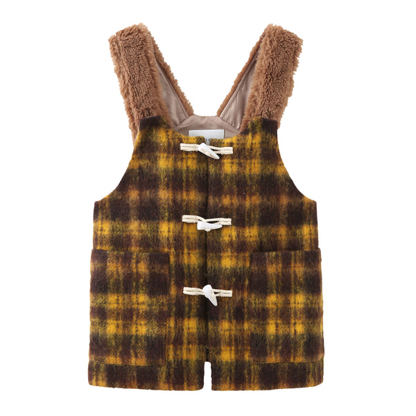 Teddy Vest - Plaid