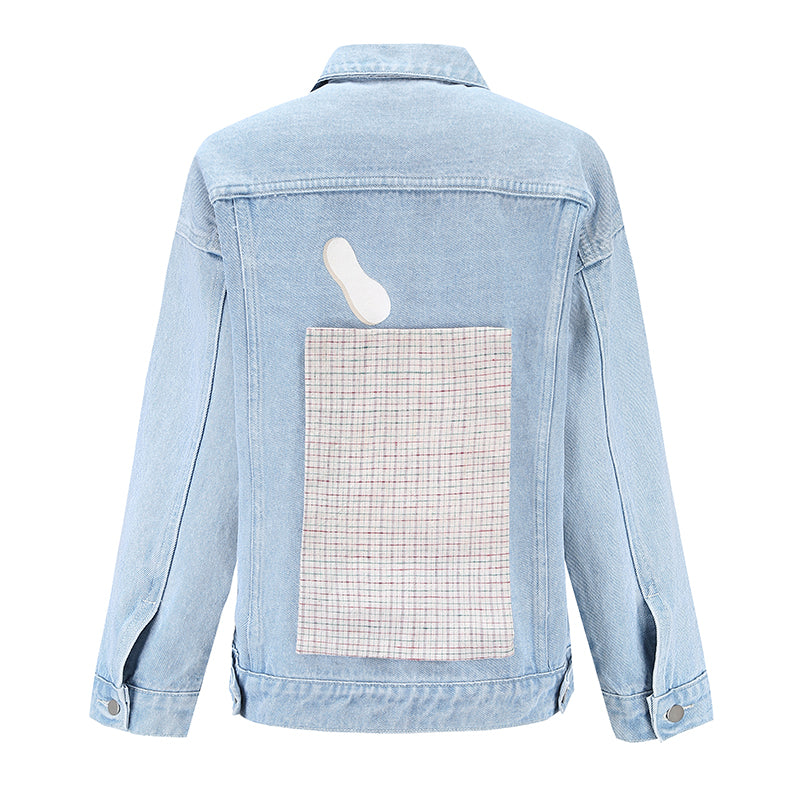 Tricolor Ice Cream Denim Jacket (2225646895200)