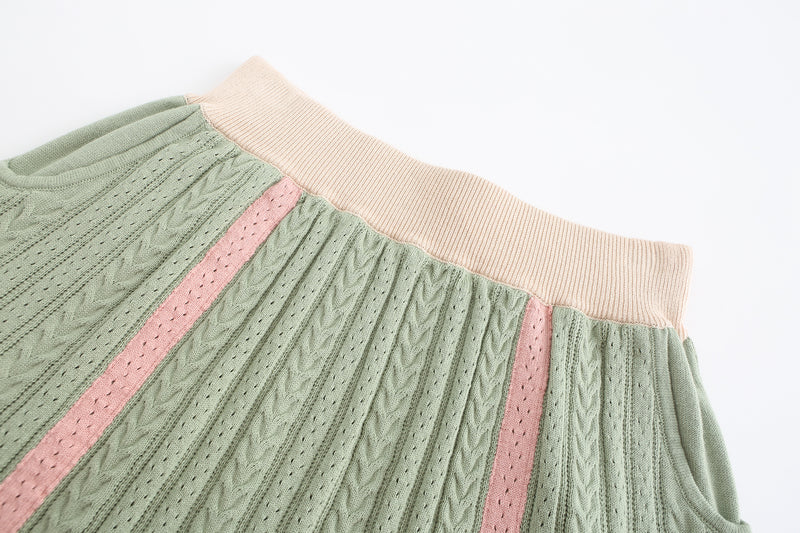 Knit Skirt - Green Tea