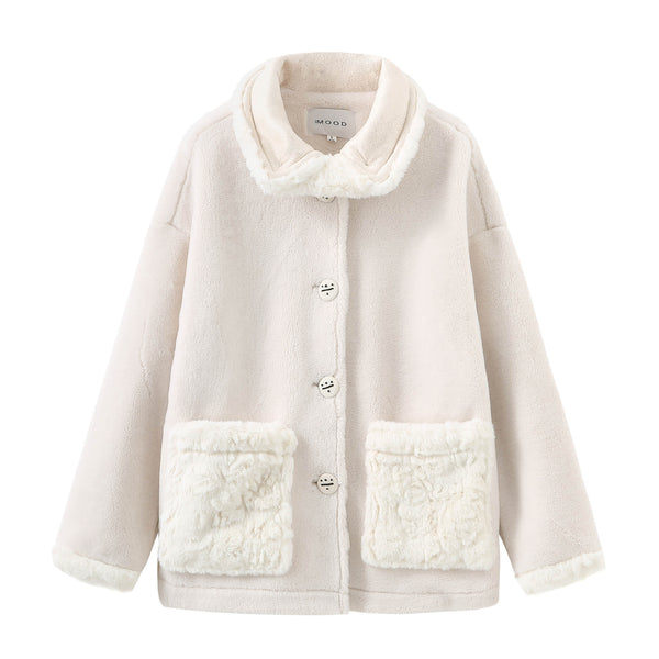 Biker Teddy Bear Coat - White