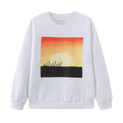 310MOOD x Wild is Life Sunrise Sweatshirt - White