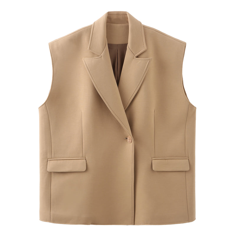 Oversized Scuba Blazer Vest - 2 colors