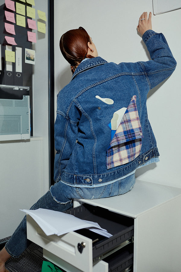 Cube Ice Cream Denim Jacket (2225640472672)
