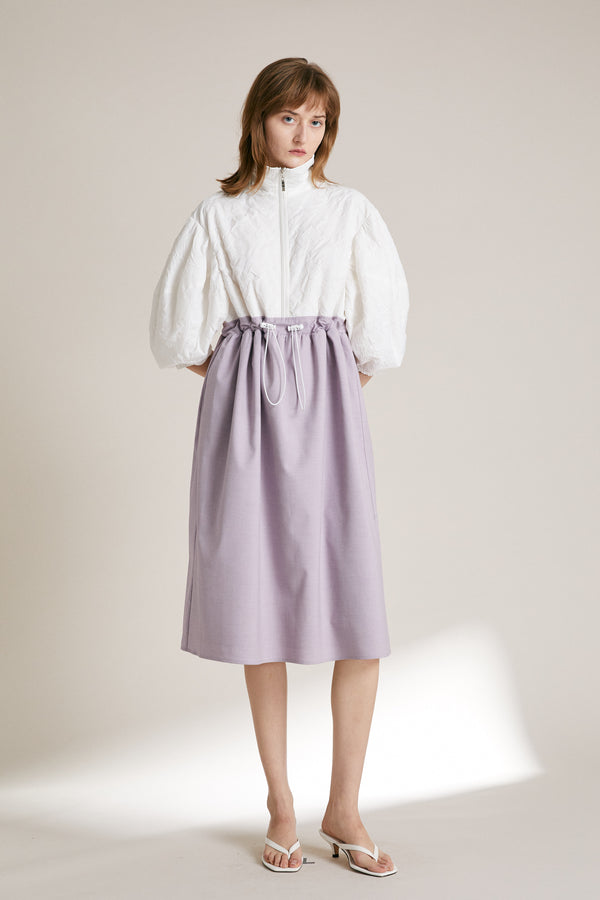 Puff Sleeve Dress - White