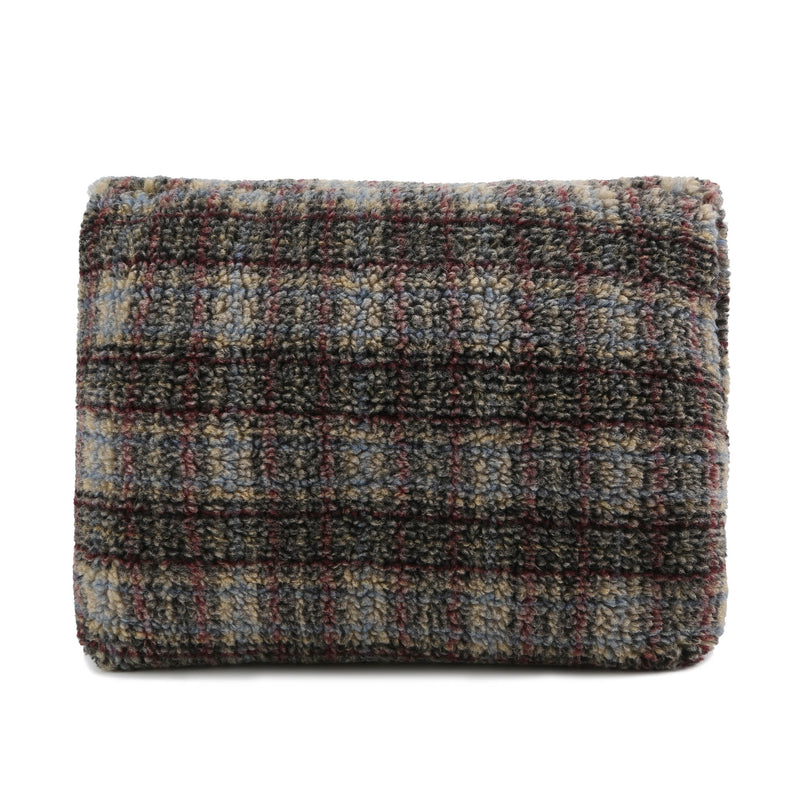 Shearling Clutch - Plaid