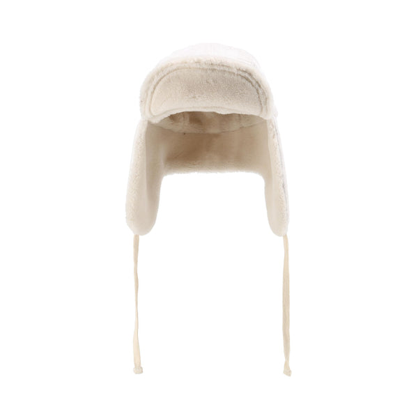 Reversible Teddy Aviator Hat - Ivory