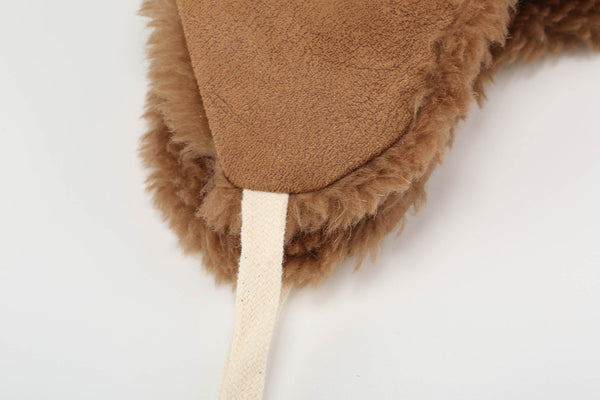 Reversible Teddy Aviator Hat - Brown