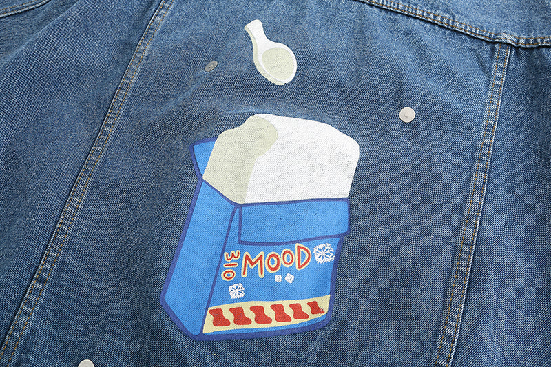Cube Ice Cream Denim Jacket