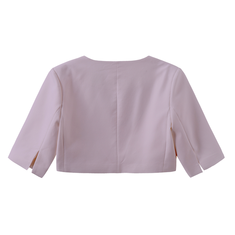U Neck Cropped Blazer - 4 Colors