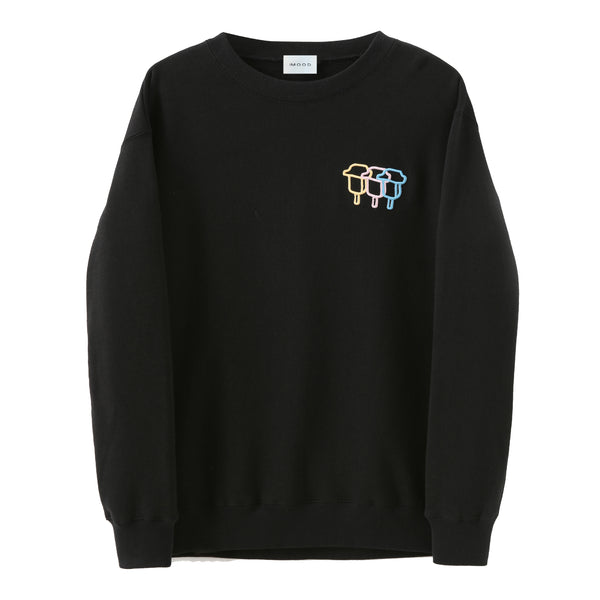 Tri-Stroke Embroidered Sweatshirt (2277759811680)