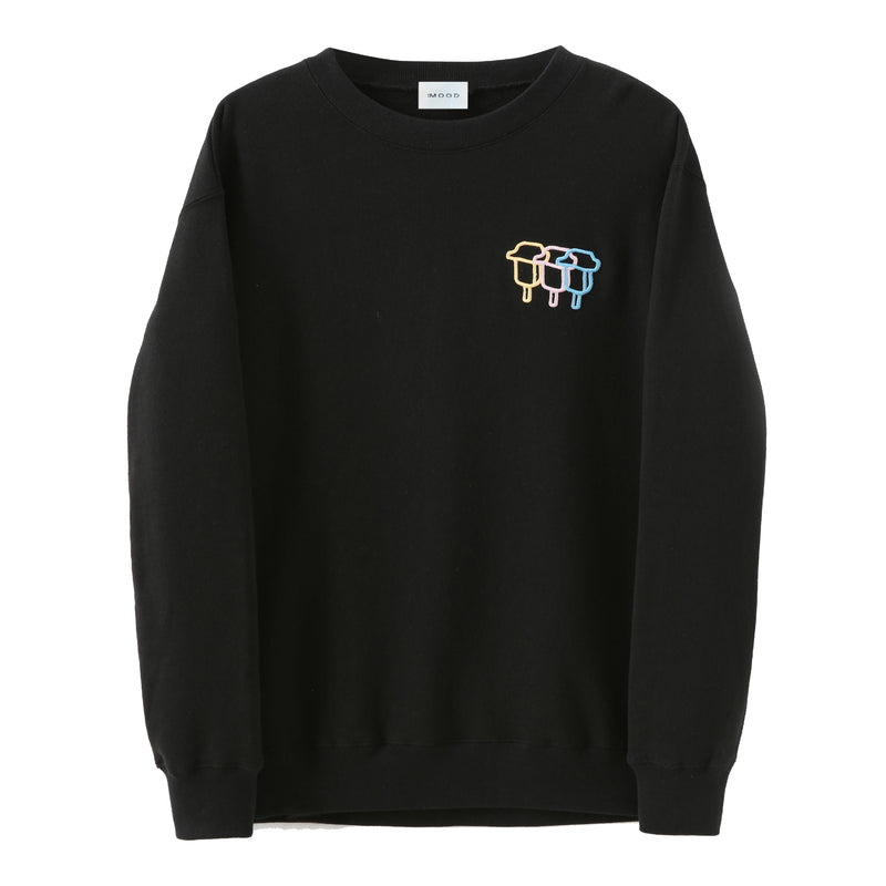 Tri-Stroke Embroidered Sweatshirt