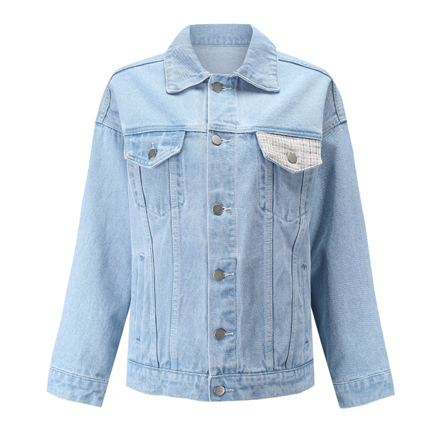 Tricolor Ice Cream Denim Jacket