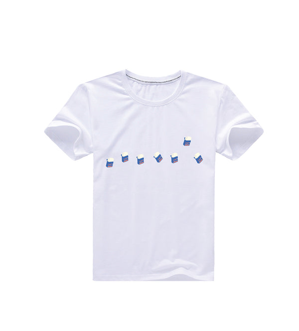 Cube Ice Cream Tee - White