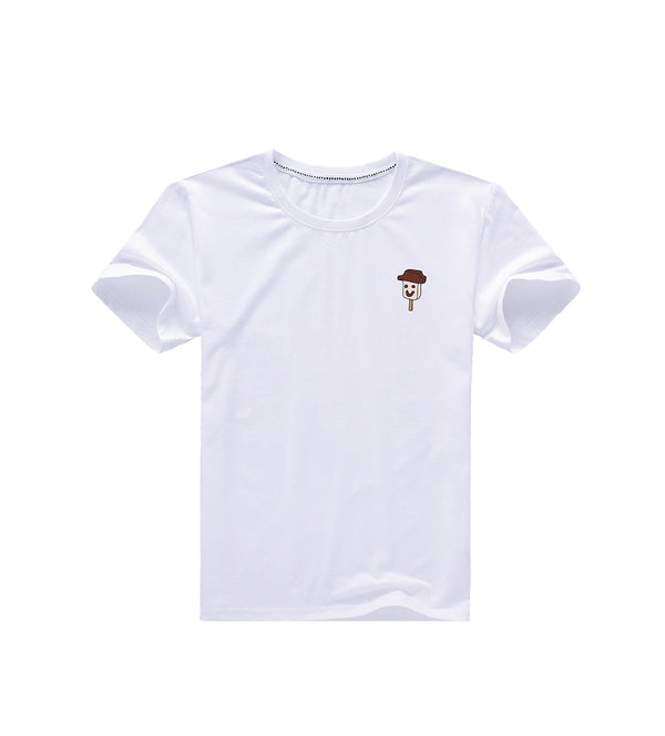 Smile Ice Cream Tee - White
