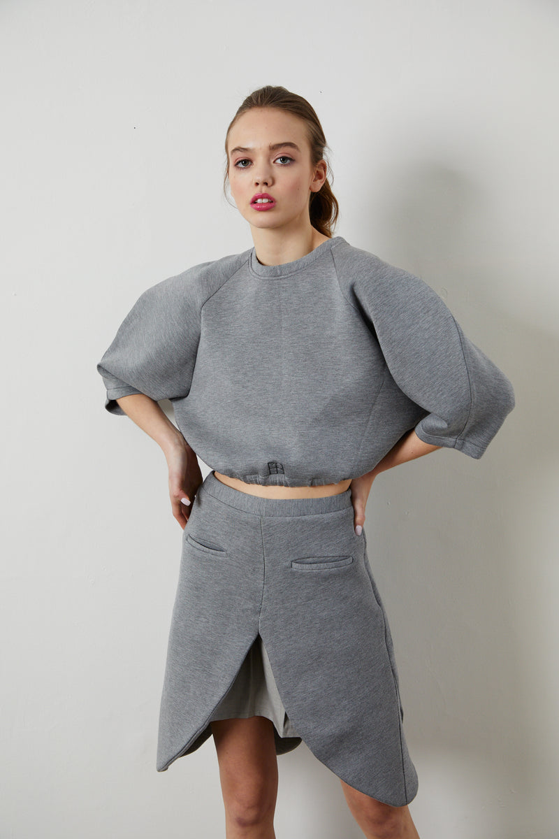 Structured Scuba Crop Top - 2 Colors