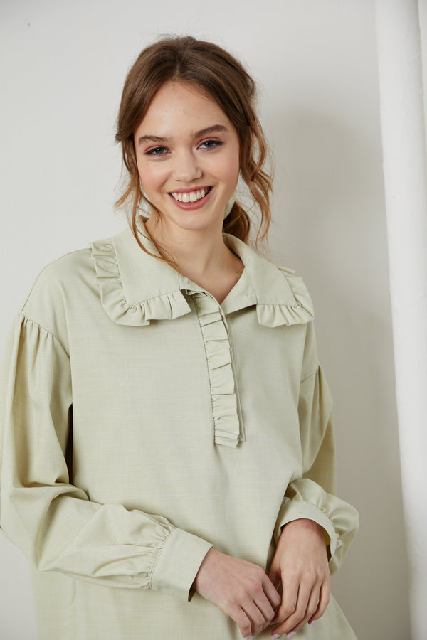 Ruffle Blouse - Lemonade