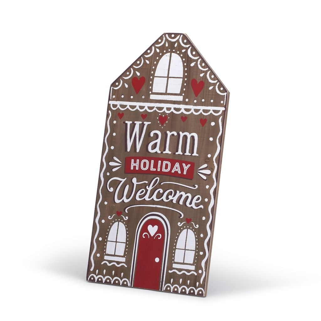Warm Holiday Welcome Sign