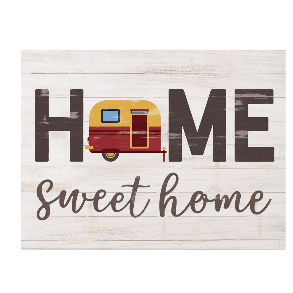 Home Sweet Camper Home Wood Sign