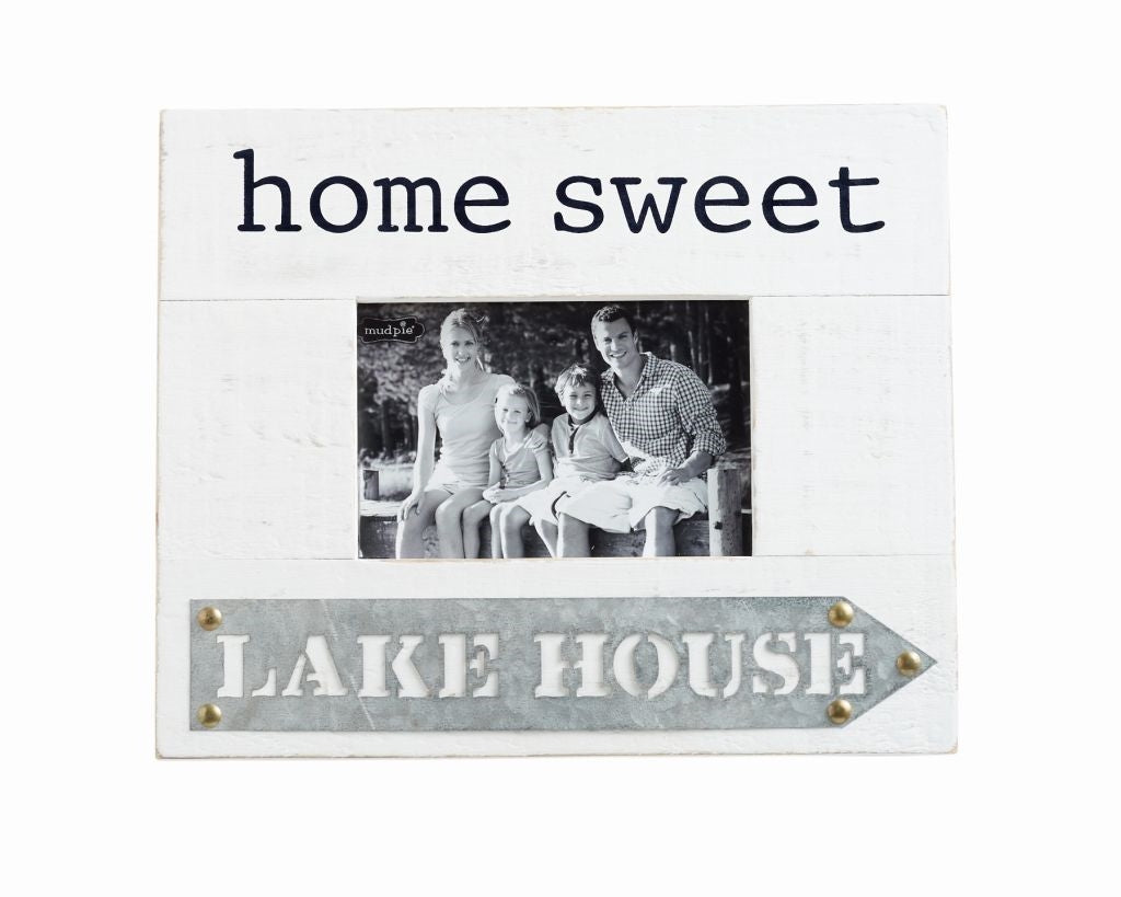 Lake House Tin & Wood Photo Frame