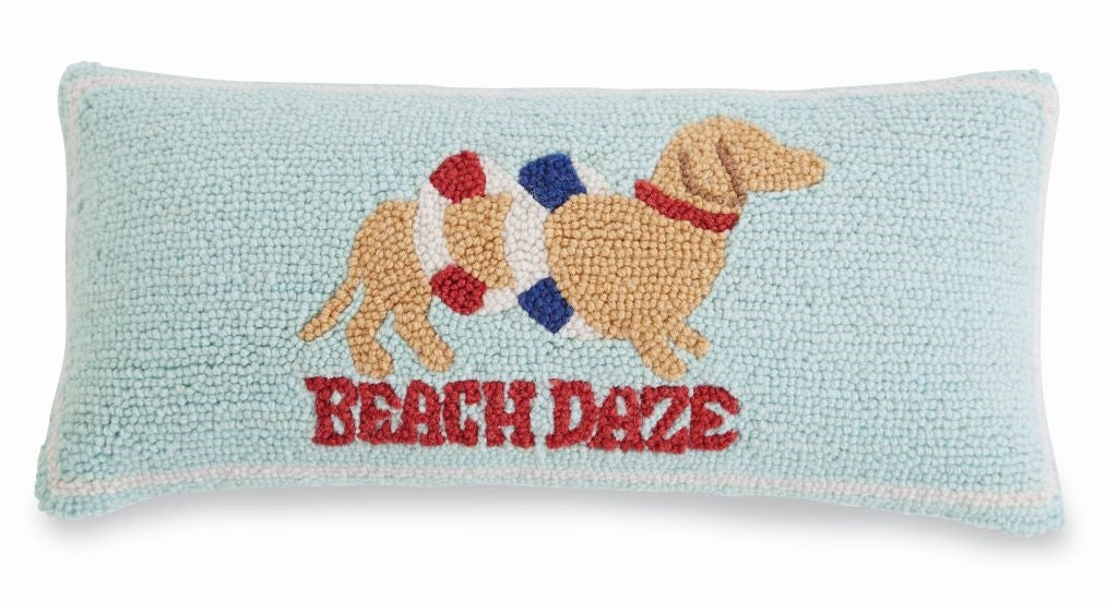 Beach Daze Hooked Pillow