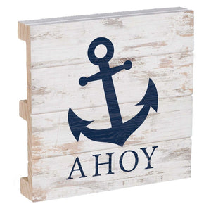 Ahoy 4 x 4 Wood Sign