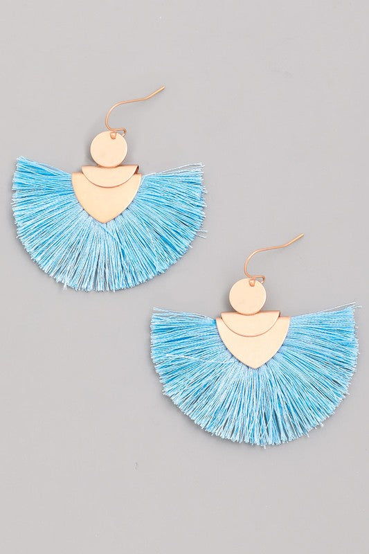 Threaded Tassel Earrings