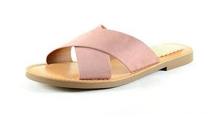 Mauve Criss Cross Slide