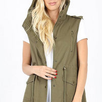 Utility Vest with Hoodie