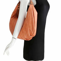 Faux Leather Pintucked 2 Way Hobo