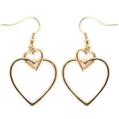 Linked Open Heart Earrings