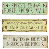 Porch Welcome Signs