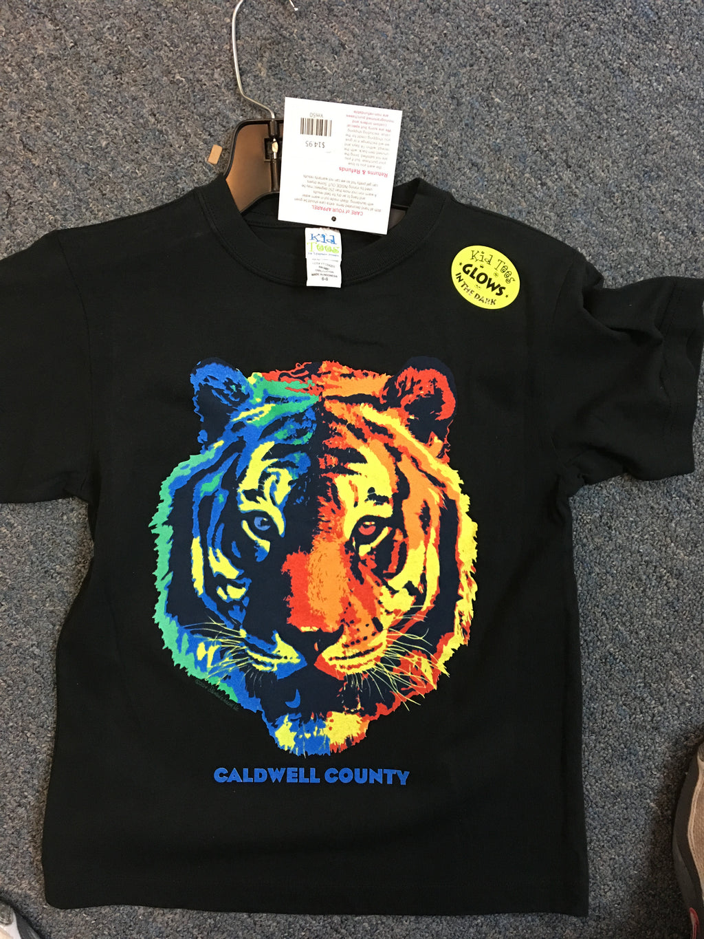 KT Youth Tiger Tees Glow In Dark