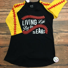 Softball Raglan Seam Sleeves