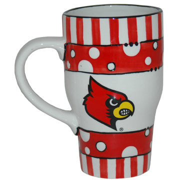 UofL Ceramic Hand Painted Mug