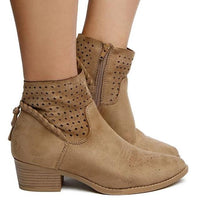 """Erin"" Taupe Bootie"