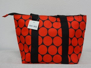 Lunch Tote Red Polka Dots