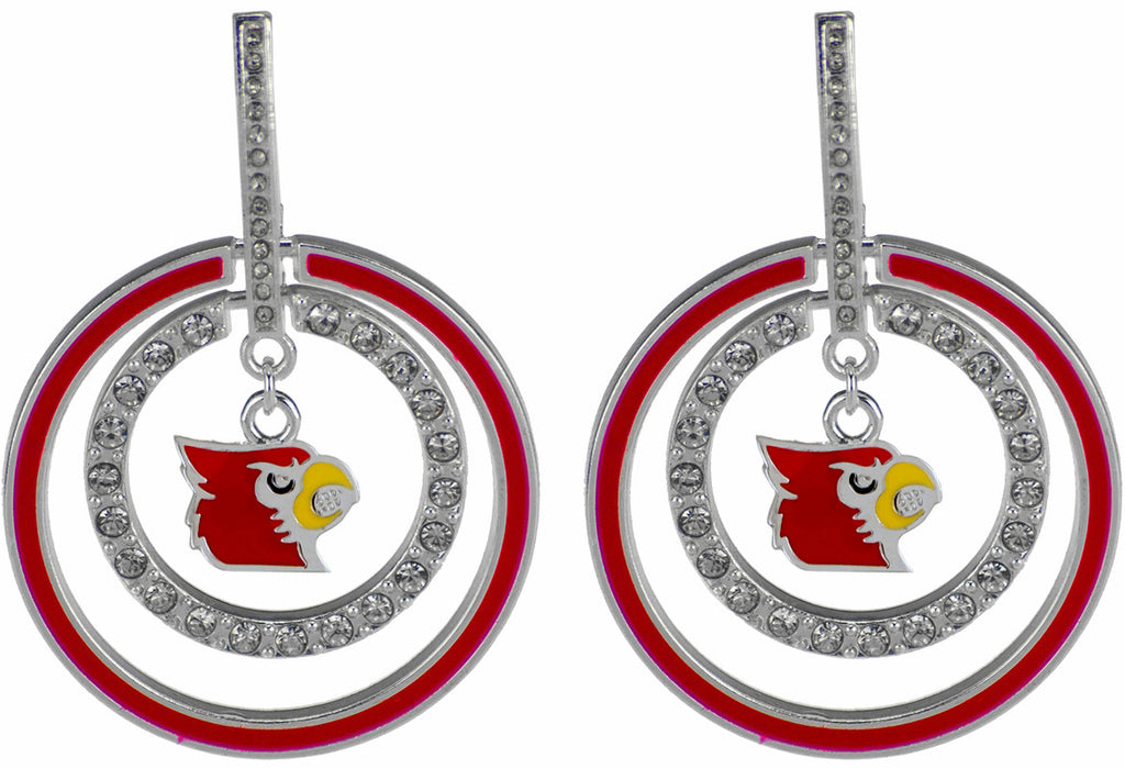 UofL Dazzle Hoop Earrings