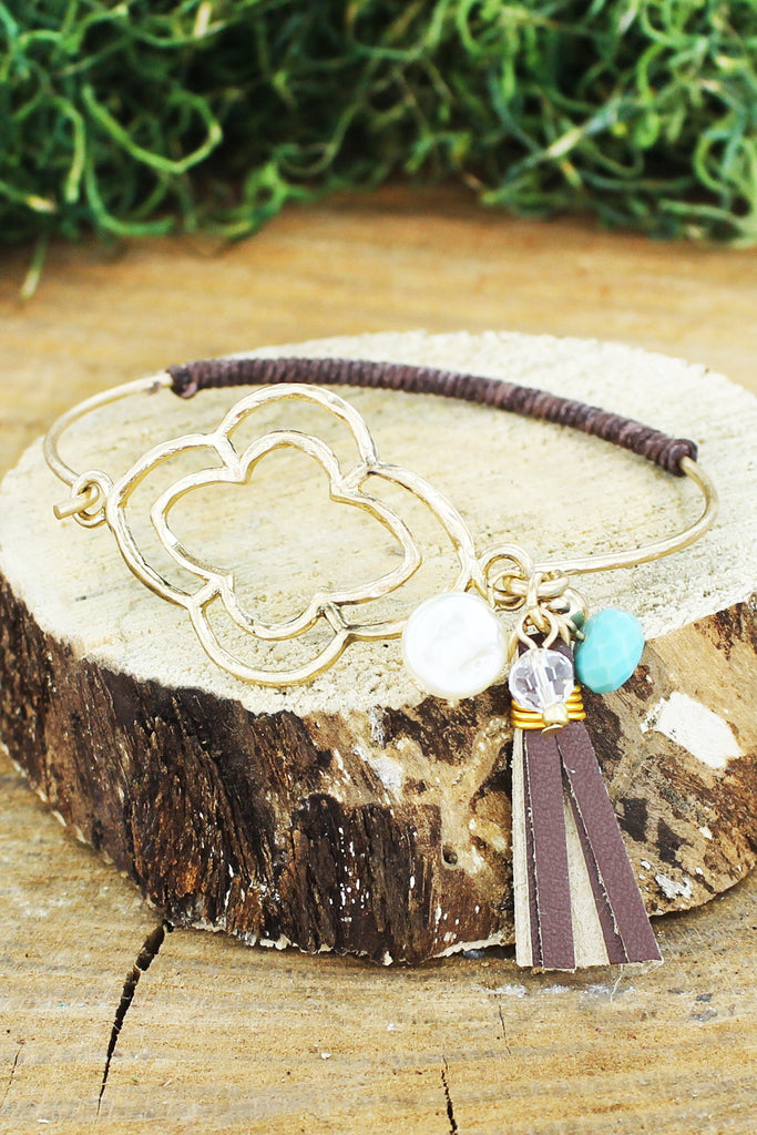 Moroccan & Tassel Charm Bangle