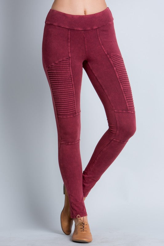 Moto Mineral Washed Leggings