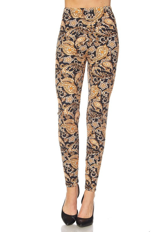 Multi Print Paisley Print Leggings