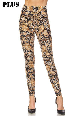 Multi Print Paisley Print Leggings (Plus)