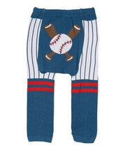 DP Navy & White Baseball Leggings