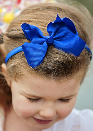 Boutique Bow with Hard Headband