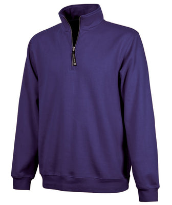 Charles River 1/4 Zip Sweatshirt - Purple