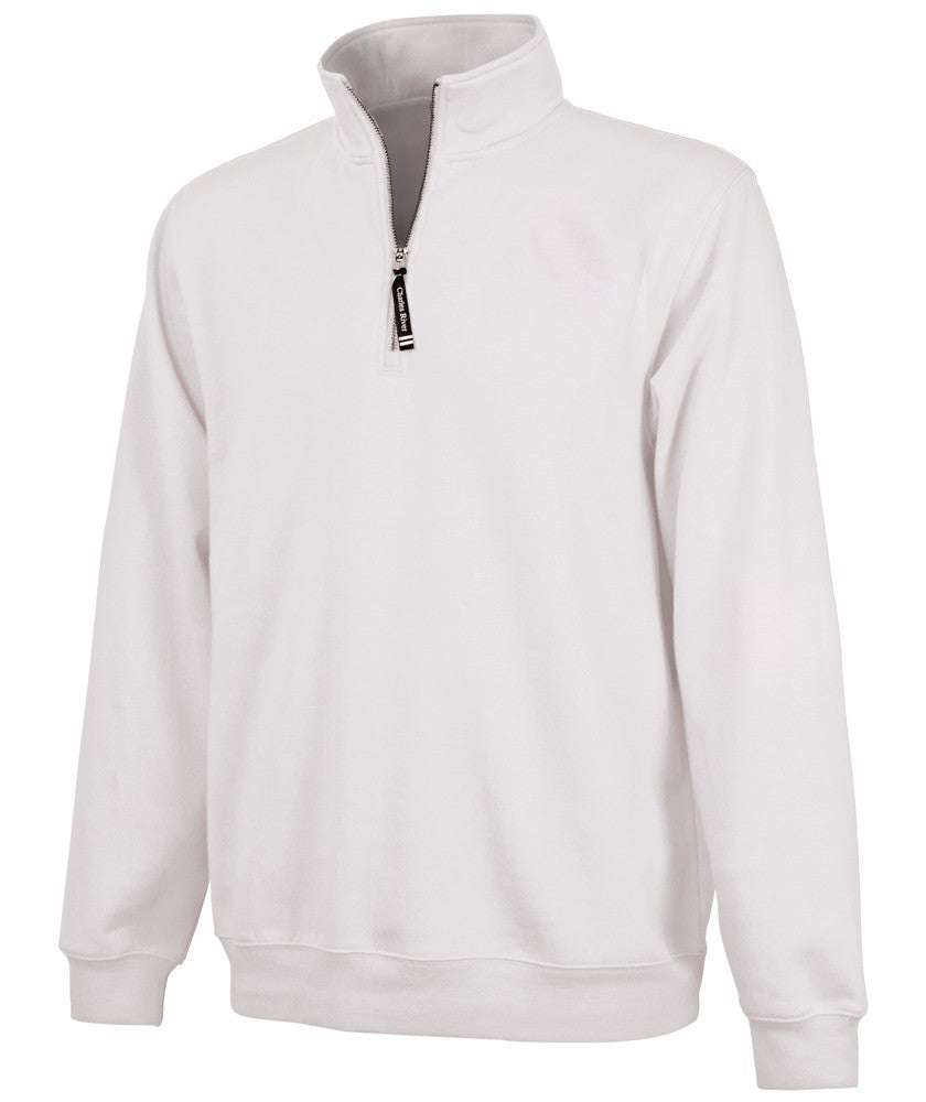 Charles River 1/4 Zip Sweatshirt - White