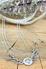 Winchester Antler Layered Necklace Set