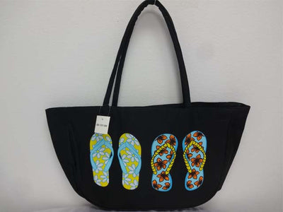 Beach Bag Flip Flops Black