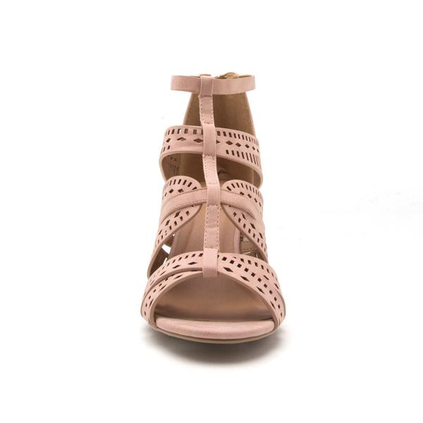 Blush Cut Out Straps Sandal
