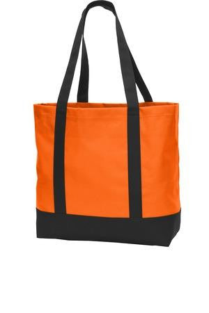 Neon Orange & Black Tote