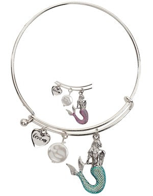 Slide Bangle with Mermaid